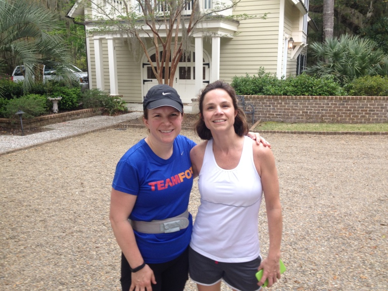 Mere and Sue after 20 miler