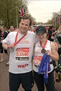 Watt and Mere at finish line