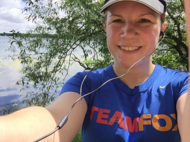 Mere by Lake Harriet with team fox shirt